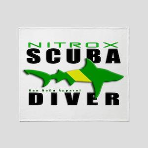 Scuba Diver: Nitrox Shark Throw Blanket