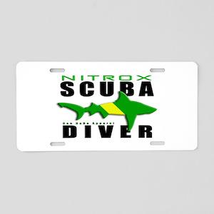 Scuba Diver: Nitrox Shark Aluminum License Plate