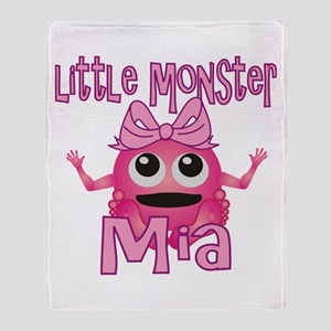Little Monster Mia Throw Blanket