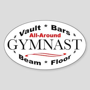 All-Around Gymnast Sticker (Oval)