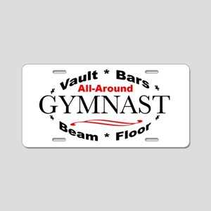 All-Around Gymnast Aluminum License Plate