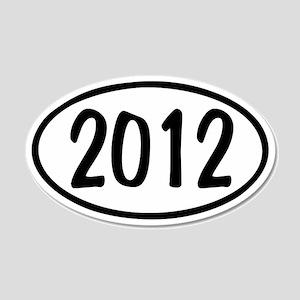2012 Oval 22x14 Oval Wall Peel