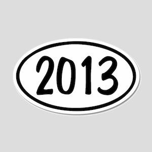2013 Oval 22x14 Oval Wall Peel