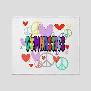 Peace-Love-Gymnastics Throw Blanket
