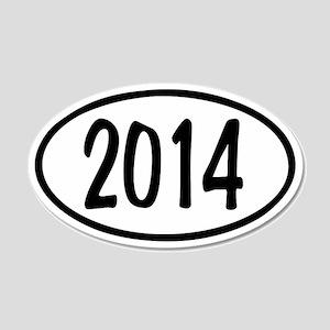 2014 Oval 22x14 Oval Wall Peel