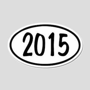 2015 Oval 22x14 Oval Wall Peel