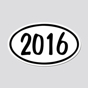 2016 Oval 22x14 Oval Wall Peel