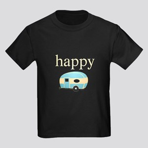 Personalities - Happy Camper Kids Dark T-Shirt