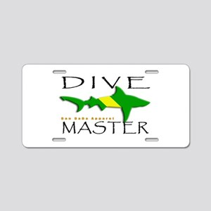 Nitrox Dive Master Aluminum License Plate