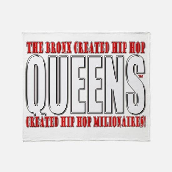 Queens Hip Hop Throw Blanket