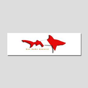 Shark Diving Flag Car Magnet 10 x 3