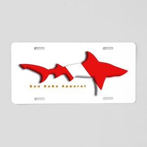 Shark Diving Flag Aluminum License Plate