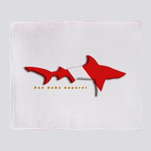 Shark Diving Flag Throw Blanket