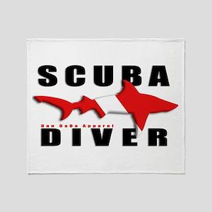 Scuba Diver: SHARK Throw Blanket