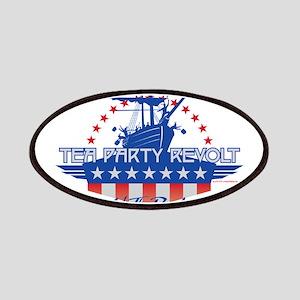 Tea Party Revolt 2010 (blue) Patches