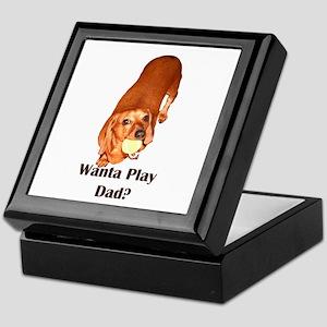 Wanta Play Dads Day Dachshund Dog Keepsake Box