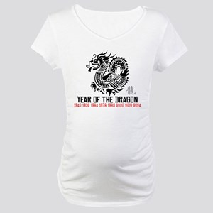 Chinese New Year of The Dragon Maternity T-Shirt
