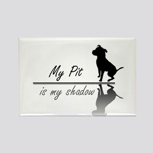 My Pit is my shadow Rectangle Magnet