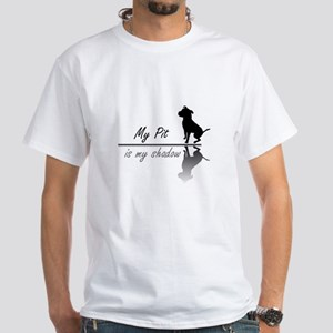 My Pit is my shadow White T-Shirt