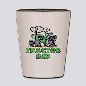 Green Tractor Kid Shot Glass