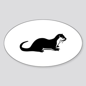 Otter Sticker (Oval)