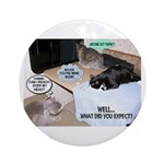 Cat Thoughts Ornament (Round)