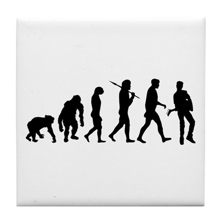 Guitar Evolution Tile Coaster
