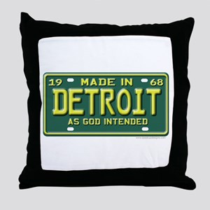 Made in Detroit Throw Pillow