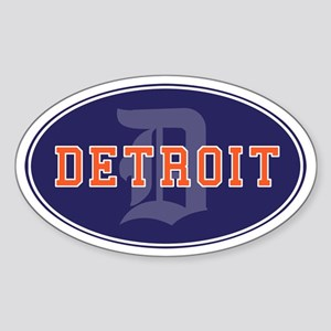 DETROIT Oval Sticker