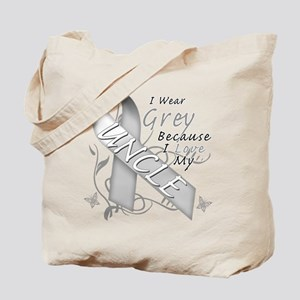 I Wear Grey, I Love My Uncle Tote Bag