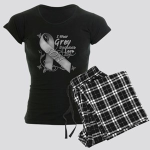 I Wear Grey, I Love My Son Women's Dark Pajamas