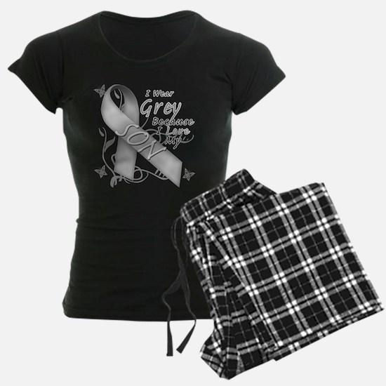 I Wear Grey, I Love My Son Pajamas