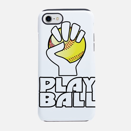 play ball, softball iPhone 7 Tough Case