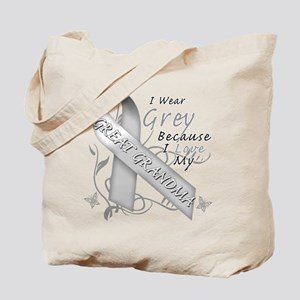 I Wear Grey, I Love My Great Tote Bag
