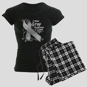 I Wear Grey, I Love My Daught Women's Dark Pajamas