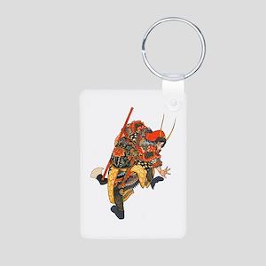 Japanese Samurai Warrior Aluminum Photo Keychain