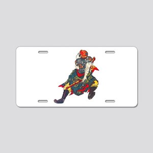 Japanese Samurai Warrior Aluminum License Plate