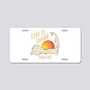 Life is Sweet Cape Cod Aluminum License Plate