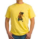 Japanese Samurai Warrior Yellow T-Shirt