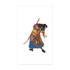 Japanese Samurai Warrior Sticker (Rectangle 10 pk)