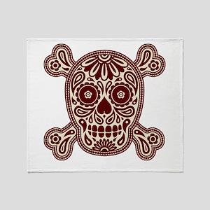 Brown Sugar Skull Throw Blanket