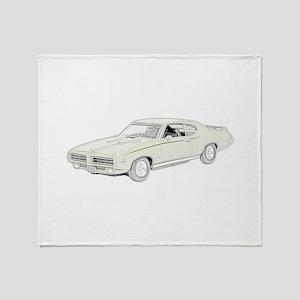 1969 Pontiac GTO Judge -color Throw Blanket