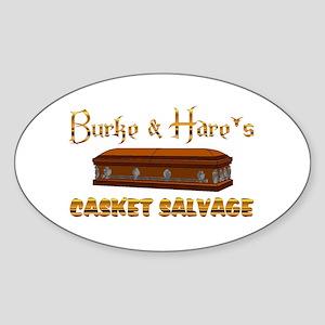 Casket Salvage Sticker (Oval)
