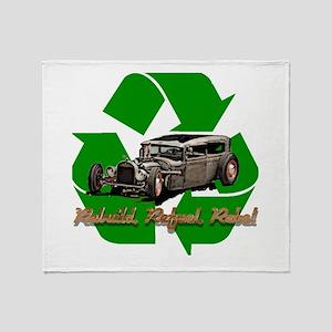 Recyled Rat Rod Throw Blanket