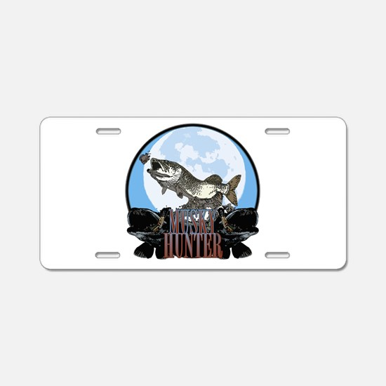 Musky hunter 7 Aluminum License Plate