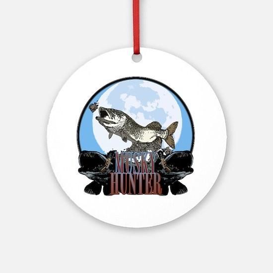 Musky hunter 7 Ornament (Round)