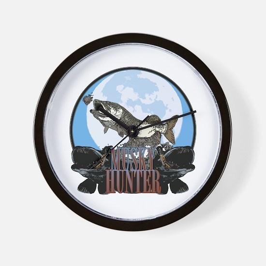 Musky hunter 7 Wall Clock