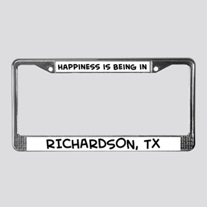 Happiness is Richardson License Plate Frame
