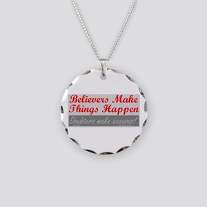 TF Designs - Believers Necklace Circle Charm