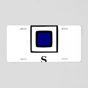 Nautical Letter S Aluminum License Plate